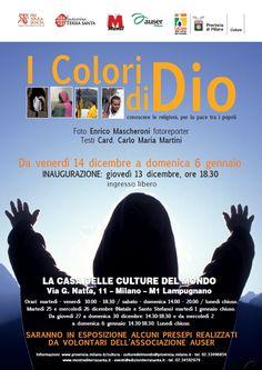 """mostra """"I colori di Dio"""", La Casa delle culture del mondo: locandina"""
