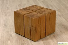 #Couchtisch Cube by www.holzmoebelkontor.de. 4 Holzblöcke aus massiver Eiche auf Rollen. Massivholztisch mal anders! Do It Yourself Furniture, Do It Yourself Projects, Loft Design, Wabi Sabi, Rustic Furniture, Fa, Sweet Home, Crafts, Vintage