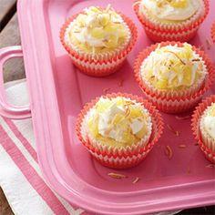 Island Pineapple Cupcakes...110 calories and 17 grams of carbs per serving
