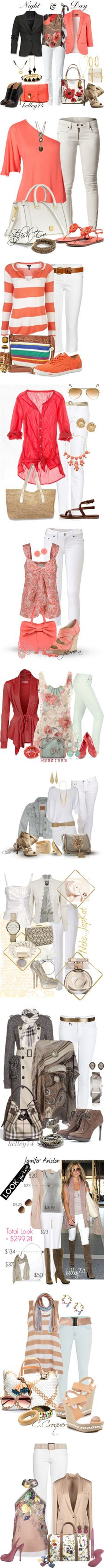 """""""White Jeans"""" by kelley74 ❤ liked on Polyvore"""