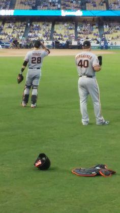 The dynamic duo of Posey & Bumgarner! 9/20/16  Dodgers Vs Giants #SFGiants