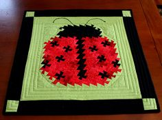 Ladybug Lil'Twister Quilted Wallhanging or by MulberryPatchQuilts, $82.00