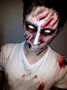 creepy men zombie makeup