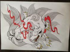 白面金毛九尾の狐 玉藻前の画像 | 刺青彫師 彫昇のブログ / 和彫りと釣りと日常な日記