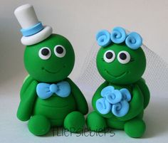 Turtle Wedding Cake Topper