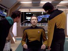 Michael Dorn, Brent Spiner, LeVar Burton, and Patrick Stewart in Star Trek: The Next Generation Star Trek 4, Jonathan Frakes, Star Trek Characters, Patrick Stewart, Star Trek Universe, The Next, Tv, Stars, Data Protection