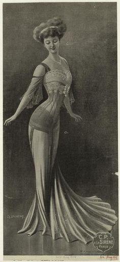 1908 Corset - edwardian fashion period - trashy lingerie, bras and lingerie, lingerie clothes *sponsored https://www.pinterest.com/lingerie_yes/ https://www.pinterest.com/explore/intimates/ https://www.pinterest.com/lingerie_yes/leather-lingerie/ http://shop.nordstrom.com/c/womens-underwear-lingerie