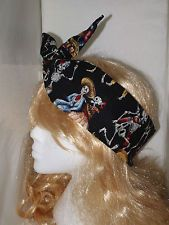 day of the dead hair scarf - Google Search