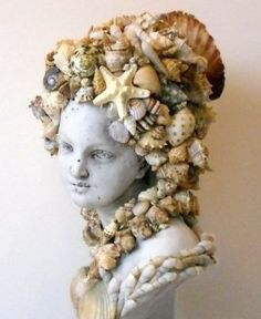 made by me Elizabeth Wyman Crews Art Seashell Art, Seashell Crafts, Beach Crafts, Seashell Bathroom, Seashell Projects, Collages, Assemblage Art, Mosaic Art, Mosaics
