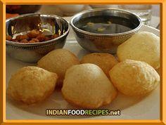 Golgappay / Pani Puri - Indian Food Recipes http://www.indianfoodrecipes.net/snacks-recipes/recipe-pani-puri.html