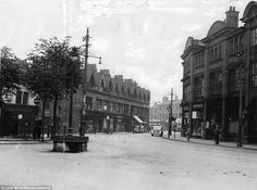 Leicester: The junction of Hinckley Road and Narborough Road pictured in the late 40s, complete with a horse trough and tram lines