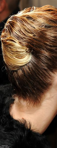 Dior Fall 2013 RTW Backstage - Hair Styling