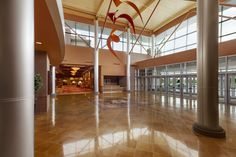The La Vista Conference Center consist of 45,000 square feet of private meeting space with an additional 15,00 square feet of public area pre-conference space as seen above.
