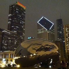 The Bean in winter at night..
