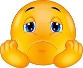 faccine tristi : Sad smiley emoticon cartone animato Vettoriali