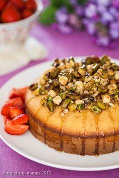Honey & pistachio cake.