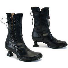 JOHN-FLUEVOG-WEAREVER-TODA-7-5-6-5-BLACK-LEATHER-BOOTS