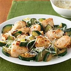 Garlic Chicken and Zucchini Allrecipes.com