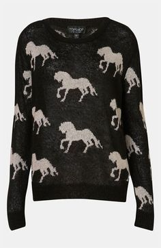 Topshop 'Horse' Sweater available at #Nordstrom