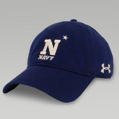 The Under Armour Navy Washed Twill Cap is one of many great hats available. Us Navy Apparel, Us Navy Shirts, Navy Gear, Navy Football, Navy Hats, Go Navy, Naval Academy, Under Armour, Baseball Hats