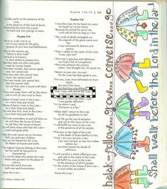Bible Journaling Psalms | This is done with plain old colored pencils and a micron pen. It is ...