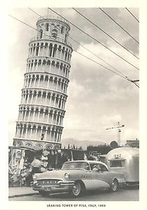 This Day in History: Feb 27, 1964: Leaning Tower needs help http://dingeengoete.blogspot.com/ http://i.ebayimg.com/t/Airstream-Trailer-at-Leaning-Tower-of-Pisa-Italy-in-1964-Modern-Postcard-/00/s/MTIwMlg4NDg=/$(KGrHqZ,!i4F!Ji!IvhpBQGLsDgW5w~~60_35.JPG