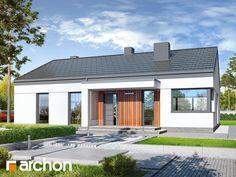 Projekt domu Dom w lulo - ARCHON+ Modern House Plans, Home Fashion, Garage Doors, Mansions, House Styles, Outdoor Decor, Home Decor, Arquitetura, Furniture