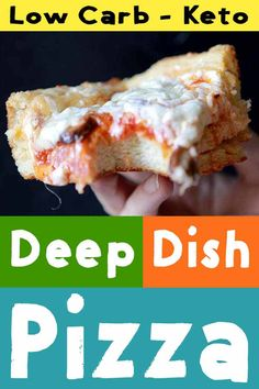 "When you taste this low carb and keto Chicago Style deep dish pizza, you'll be singing, ""That's Amore"". It's got a real yeast bread thick crust and only net carbs per slice. Pizza Recipes, Low Carb Recipes, Healthy Recipes, Soup Recipes, Healthy Food, Dinner Recipes, Low Carb Pizza, Low Carb Keto, Onion Pizza Recipe"