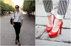 Black White and Red are 3 colors you can never go wrong with!     Totally in love