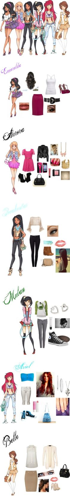 """""""Disney princess all grown up"""" by litmaria on Polyvore"""