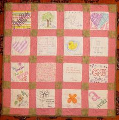 Baby shower idea. Have your guest design a quilt square using ... : baby quilt square ideas - Adamdwight.com