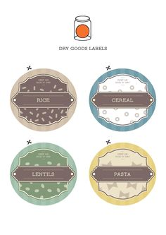 printable dry goods labels