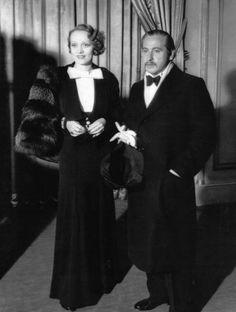 Marlene Dietrich and Josef Von sternberg