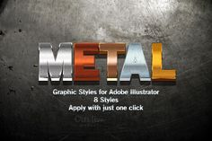 Metal Graphic Styles for Illustrator - Layer Styles