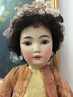 RARE-German-Simon-Halbig-1329-Antique-Japanese-Asian-Oriental-Doll