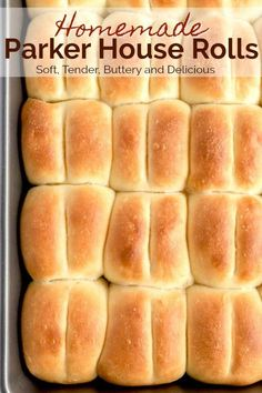 Parker House Rolls are fluffy buttery soft and hard to resist! These easy to make dinner rolls are absolutely delicious! Parker House Rolls are fluffy buttery soft and hard to resist! These easy to make dinner rolls are absolutely delicious! Best Bread Recipe, Quick Bread Recipes, Baking Recipes, Muffin Recipes, Thanksgiving Recipes, Fall Recipes, Holiday Recipes, Party Recipes, Christmas Recipes