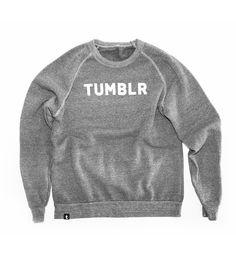 Tumblr Merch - Tumblr Varsity Crew Sweatshirt http://www.tumblrmerch.com/products/51457-tumblr-varsity-crew-sweatshirt