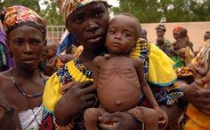 Starving children at an MSF clinic in Niger...help these starving children