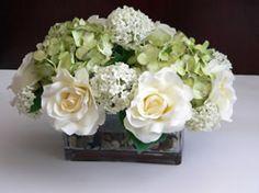 Silk Flower Arrangement Hydrangea and Roses- Love this!