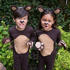 Recreate this easy DIY kids bear costume by starting with super soft Primary basics. Shop solid color basics f Monkey Costumes, Book Costumes, Book Week Costume, Diy Costumes, Costume Ideas, Toddler Bear Costume, Teddy Bear Costume, Toddler Costumes, Animal Costumes For Kids