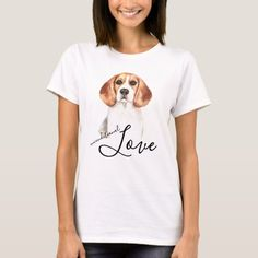 Unconditional Love Beagle Dog Portrait T-Shirt   beagle basset hound mix puppy, basset hound puppy cute, shark puppy #pet #dogmania #catmania, back to school, aesthetic wallpaper, y2k fashion