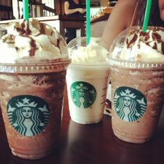 Double Chocolate Chip and Vanilla Bean frappuccino