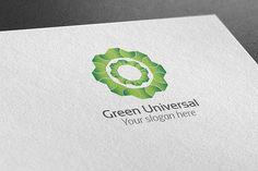 Green Universal Logo by BdThemes on @creativemarket