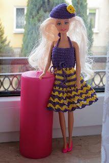 Lalka Barbie w szydełkowej sukience