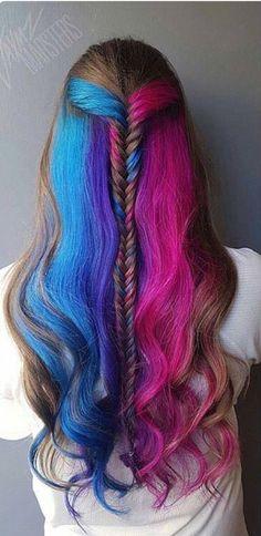 #rainbowhair #hairenvy #haircolour #haircolor #newhair #longhair #kayandkompany #london #muswellhill #hair #salon #n10