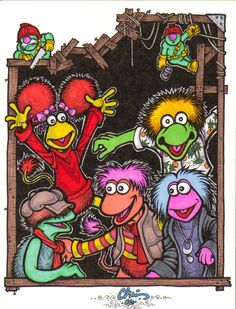 Fraggle Rock by ~Loyin on deviantART Comedy Cartoon, Cartoon Clip, Cartoon Pics, The Muppets Characters, Rock Tattoo, Clever Dog, Nostalgic Art, Plastic Canvas Stitches, Fraggle Rock