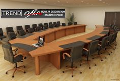 Conference Room Design, Conference Table, Wall Dining Table, Office Table Design, Luxury Office, Meeting Table, Wooden Doors, Interior, Furniture