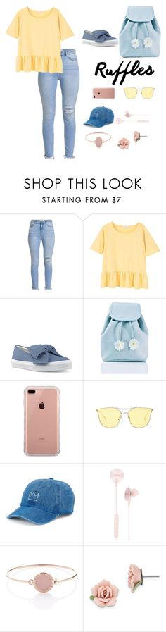 """""""Ruffled Top"""" by grace-granger on Polyvore featuring MANGO, Nine West, Sugarbaby, Belkin, SO, i.am+, Michael Kors, 1928, contest and contestentry"""