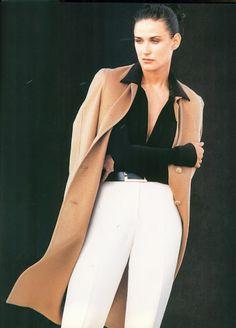Harper's Bazaar, September 1996, Demi Moore for Donna Karan such a fantastic beauty!