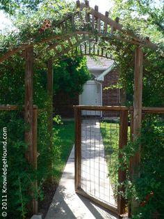 Pergola - I like this for a Potager garden entrance. Garden Gates And Fencing, Garden Arbor, Garden Trellis, Fences, Arbor Gate, Garden Entrance, Potager Garden, Veg Garden, Outdoor Projects